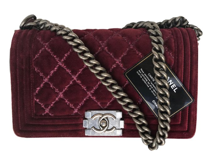 Chanel Boy Medium Velvet Handbags Other Ref 77037