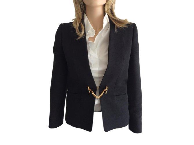 Vestes Gucci Blazer veste fermeture 'bijou' Autre Bleu Marine ref.77081