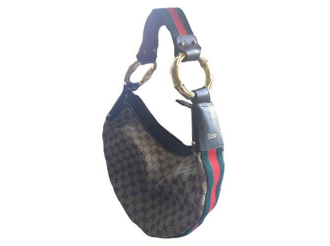 Gucci Handbags Handbags Cloth Brown ref.77136