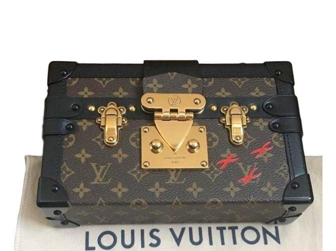 Sacs à main Louis Vuitton Petit malle Cuir Marron ref.77189