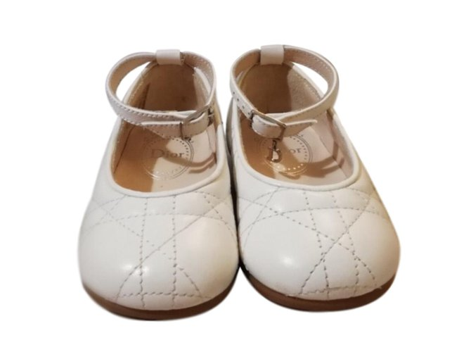 Dior Slippers Slippers Leather White ref.77362