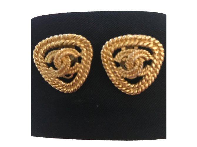 Chanel Earrings Earrings Metal Golden ref.77376