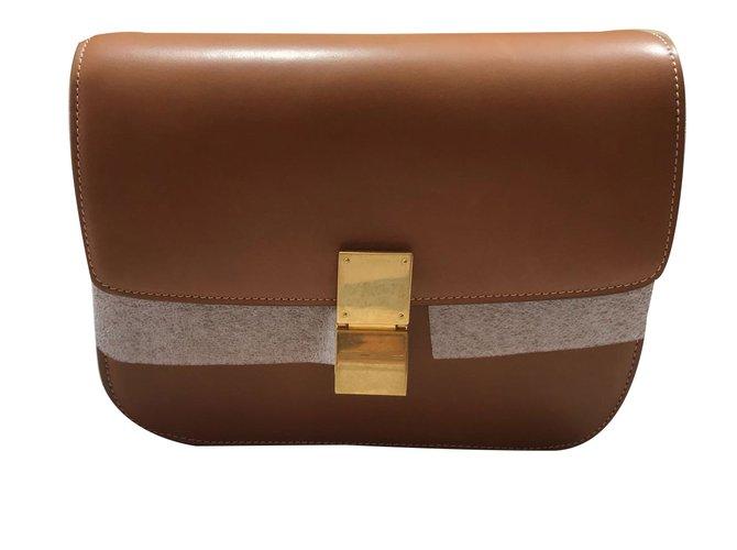 77436 Ref Handbags Leather Armadio Joli Céline Brown wO0Fnq
