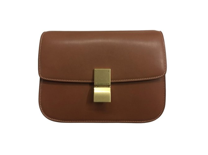 5f504171e0e5dc Céline Classic Box Handbags Leather Brown ref.77472 - Joli Closet