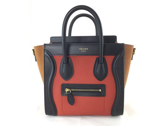 4bfec39023a8 Céline Nano Luggage Handbags Leather Other ref.77491 - Joli Closet