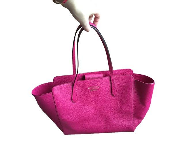 39e335273e56 Gucci Totes Totes Leather Pink ref.77833 - Joli Closet