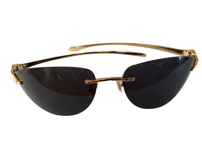 7f4cf71fe4c Cartier Sunglasses Sunglasses Metal Golden ref.77989 - Joli Closet