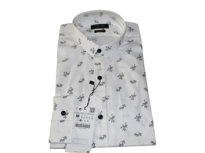 4f27c88f5 Zara shirts Shirts Cotton White ref.78024 - Joli Closet
