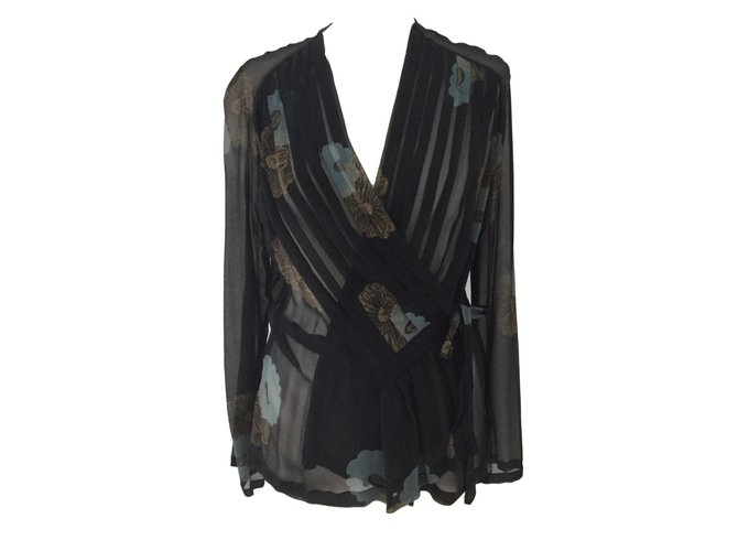 Tops Dries Van Noten Tops Soie Multicolore ref.78207