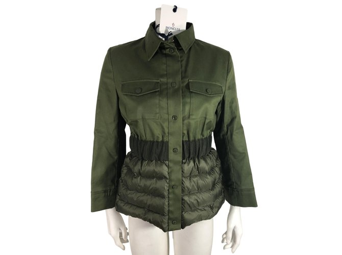 Moncler Jacket Jackets Cotton Green ref.78217
