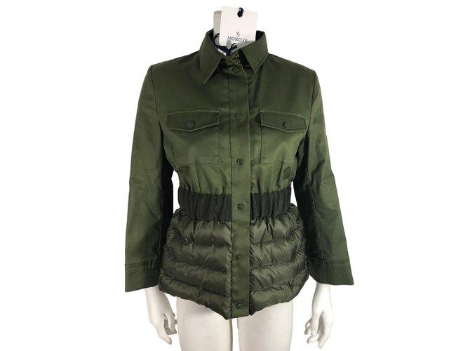 Vestes Moncler Veste Coton Vert ref.78217