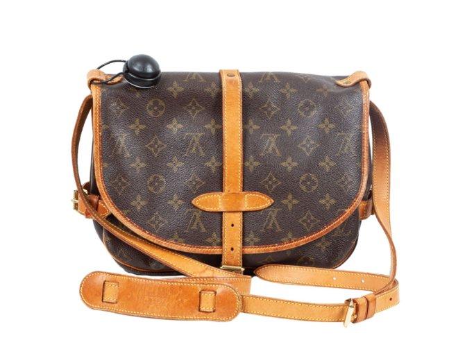 Sacs à main Louis Vuitton Louis Vuitton - Saumur 30 - Vintage Cuir,Toile  Marron 0341813ece7