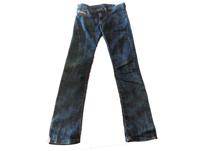 Pantalons fille Diesel Pantalons fille Jean Bleu ref.78451