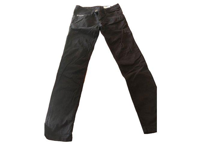 Pantalons fille Diesel Nevy super slim tapered Coton Noir ref.78452