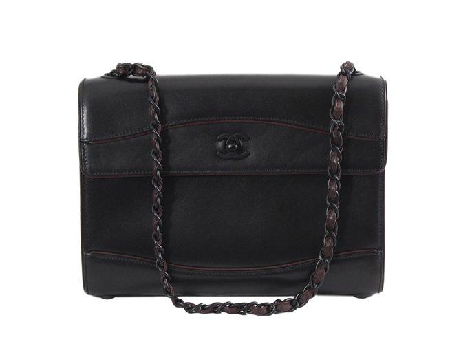 Sacs à main Chanel Sacs à main Cuir Noir ref.78482