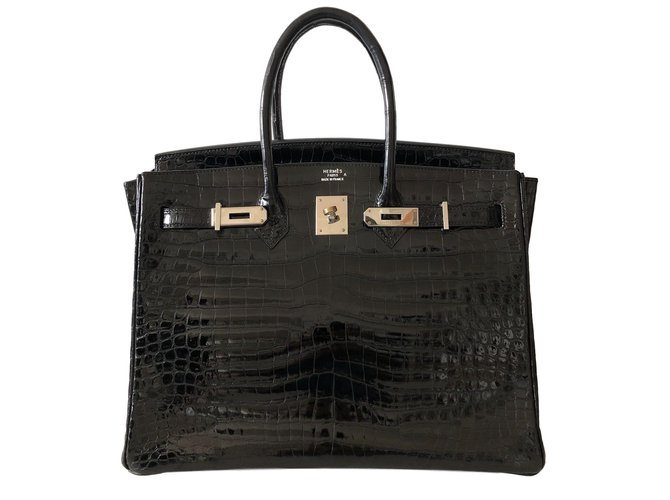 Hermès Birkin 35 Handbags Exotic leather Black ref.78509