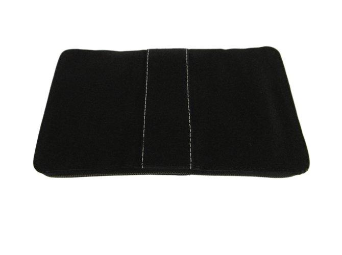 Hermès Cloth Clutch Wallet Clutch bags Cloth Black ref.78518