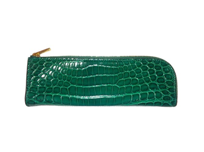 Céline Purses, wallets, cases Purses, wallets, cases Exotic leather Green ref.78530