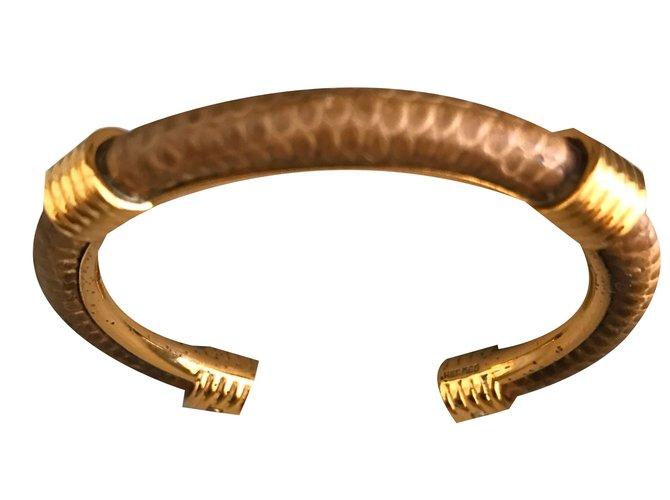 Hermès Bracelets Beige Gold-plated  ref.78597