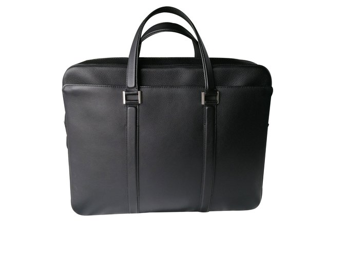 Bags Briefcases Leather Black Ref 78606