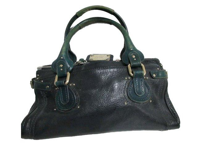 23f51fa76f Chloé Paddington bag medium Handbags Leather Blue ref.78632 - Joli ...
