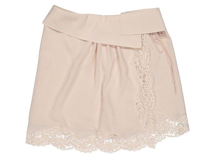 Chloé Skirts Skirts Silk Beige ref.78734