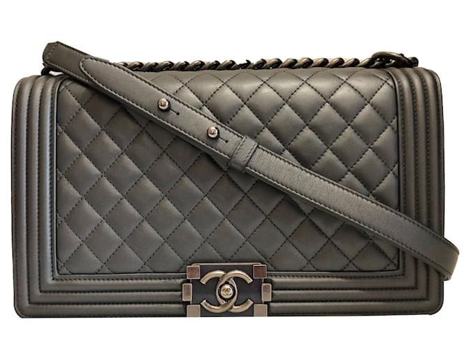 Chanel Boy Flap Bag Grey New