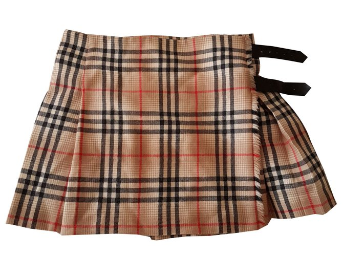 Burberry Skirts Skirts Wool Black,Red,Multiple colors,Beige ref.78770