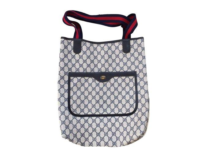 f748115e8410 Gucci Vintage GG supreme Handbags Other Blue ref.78798 - Joli Closet