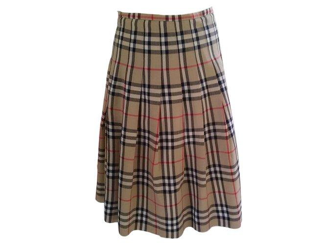 Burberry Skirts Skirts Wool Brown ref.78859