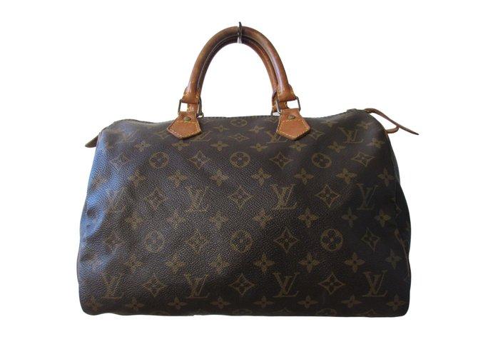 Sacs à main Louis Vuitton Sacs à main Cuir Marron ref.78911 - Joli ... f22de063b06