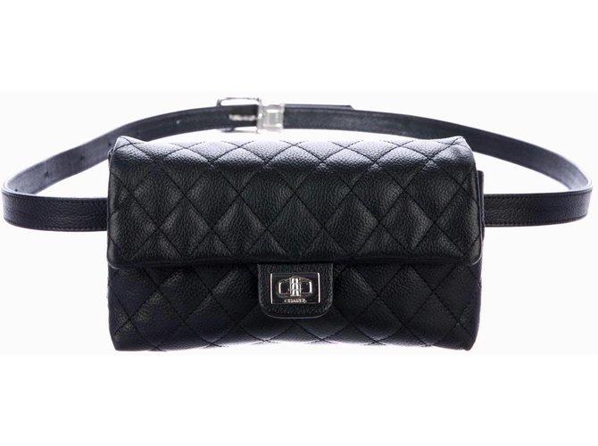 27324777c353 Sacs de voyage Chanel Pochette ceinture Cuir Noir ref.78935 - Joli ...