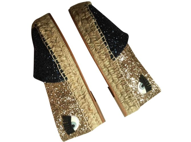 detailed pictures available 100% high quality Chiara Ferragni Espadrilles with glitters Espadrilles Cloth ...