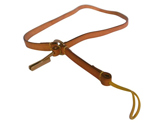 Louis Vuitton Leather Phone Accessory Strap Misc Leather Caramel ref.79019