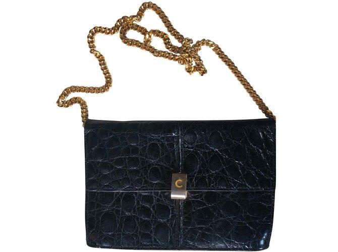 6fd09218d483 Céline Clutch bags Clutch bags Exotic leather Black ref.79080 - Joli ...