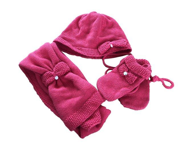 Chapeaux, bonnets, gants Tartine et Chocolat Chapeaux, bonnets, gants Coton Bordeaux ref.79081
