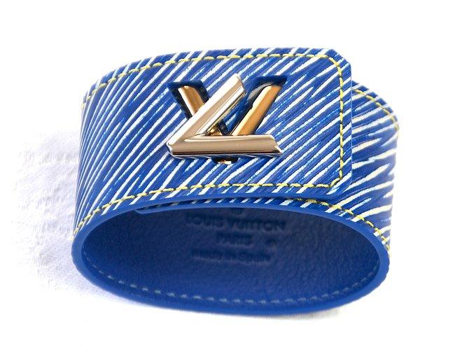 Bracelets Louis Vuitton Bracelets Cuir Bleu ref.79252