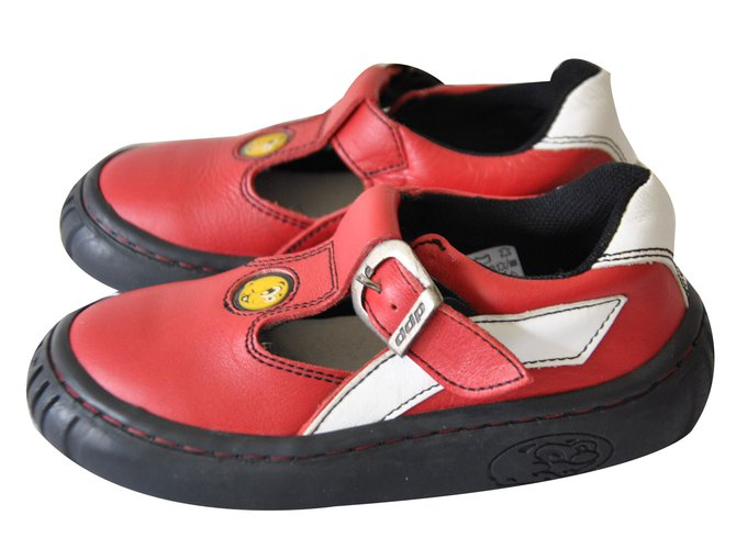 Autre Marque Kids Sandals Kids Sandals Leather Red ref.79302
