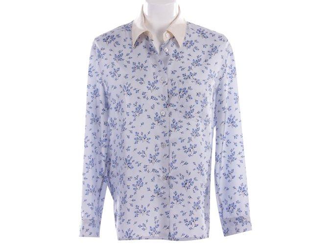 eb780c7c5a7079 Prada Tops Tops Silk Blue ref.79357 - Joli Closet