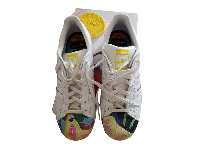 buy online 54e0d 11dbf Adidas Pharrell Williams Superstar Sneakers Leather White,Multiple colors  ref.79394
