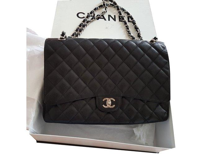 cceacf9a357e5c Chanel Handbags Handbags Leather Black ref.79406 - Joli Closet