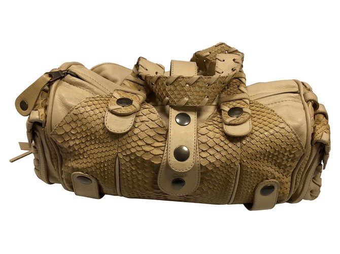 Chloé Handbags Handbags Leather,Python Beige ref.79434