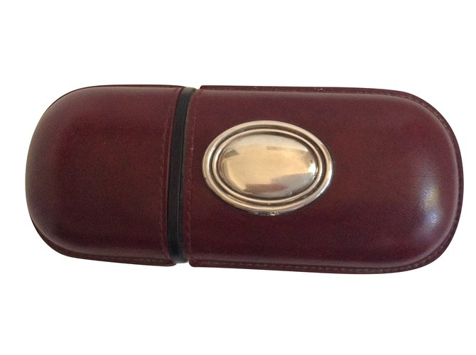 Autre Marque Wallets Small accessories Wallets Small accessories Leather Dark brown ref.79509