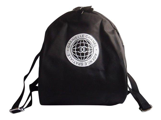Chanel Backpacks Backpacks Cloth Black ref.79882