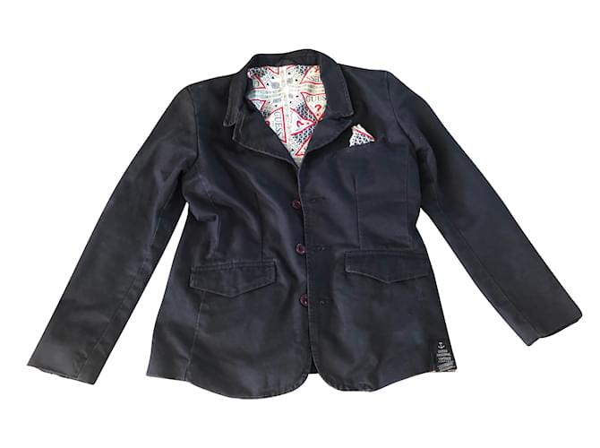Guess Boy Coats Outerwear Boy Coats Outerwear Cotton Navy blue ref.79886