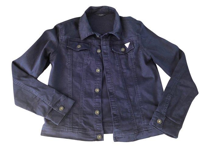 Blousons, manteaux garçon Guess Blousons, manteaux garçon Coton Bleu Marine ref.79888