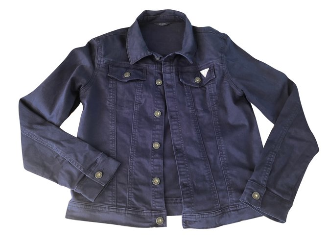 Guess Boy Coats Outerwear Boy Coats Outerwear Cotton Navy blue ref.79888