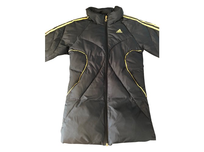 Adidas Girl Coats outerwear Girl Coats outerwear Polyester Black,Golden ref.79891