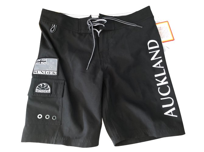 Shorts garçon Autre Marque Shorts garçon Polyester Noir,Blanc ref.79904