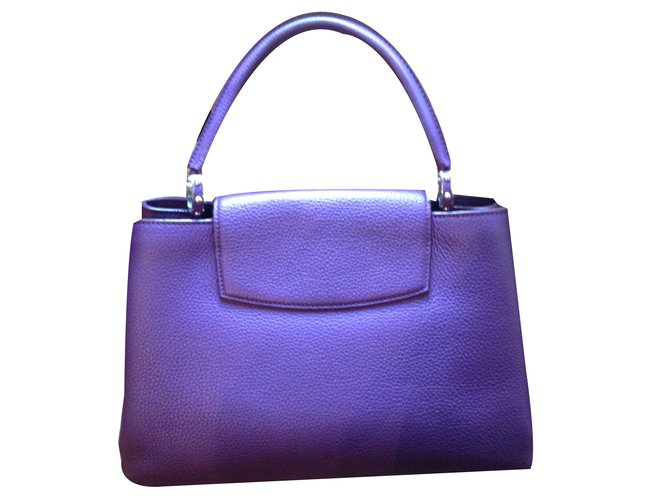 e7c805da5432 Louis Vuitton nasturtium Handbags Leather Purple ref.79955 - Joli Closet